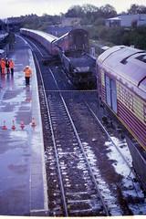 Lawrence Hill Station, Bristol, 2000 (Clark Photo Archive) Tags: bristol lawrencehill 2000 train crash royalmail station bridge churchroad trucks railway