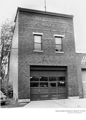 Truck 1's quarters on Westerlo St  circa 1970  . (albany group archive) Tags: fire dept old albany ny vintage photos picture photo photograph history historic historical 1970s