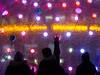 contact (Cosimo Matteini) Tags: cosimomatteini ep5 olympus pen m43 mzuiko45mmf18 london canarywharf jubileeplaza canarywharfplaza lightinstallation lightsfestival winterlights soniclightbubble eness people candid silhouette contact
