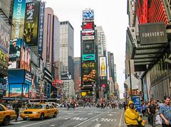 New York, Manhattan (Pablo Dijkstra) Tags: new york manhattan canon powershot a520 city times square coca cola corona light cabs yellow jazz festival samsung hsbc forever 21 hyundai