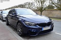 BMW M3 F80 Sedan 2017 (Monde-Auto Passion Photos) Tags: voiture vehicule auto automobile bmw m3 f80 sedan berline bleu blue sportive rare rareté france fontainebleau