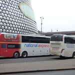 Your London tour starts here - National Express coaches passing Selfridges Birmingham thumbnail