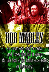 Bob Marley 002 (codyjacobson@zenmountainmedia.com) Tags: bob marley quote text fonts art poster red yellow green rastafarian music colorful graphic design