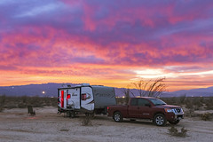 Camping Under A Colorful Sunset In The Anza-Borrego Desert (slworking2) Tags: borregosprings california unitedstates us rv trailer camper camping campsite anzaborrego desert sky clouds sunset colorful anzaborregodesertstatepark boondocking