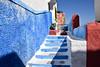 The Stairs, Blue Town, Rabat (meg21210) Tags: stairs bluetown rabat morocco pot wall doorway door blue sky