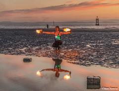 (Steve Samosa Photography) Tags: crosby beach fire nightscene sunset merseyside mersey coastline metropolitanboroughofsefton england unitedkingdom gb