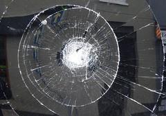 P1080351 (art crimes) Tags: margate kent window broken glass cracks smash smashed reflections distortions