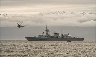 HMCS Calgary and Navy Chopper