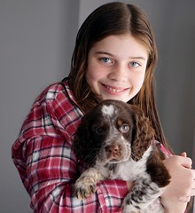Emily's new freind (SAVEY FOTO) Tags: easter smile love puppy mansbestfriend blueeyes teen girl spaniel springer english