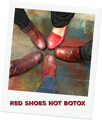 Red Shoes Not Botox (Doris Burfind) Tags: people women shoes red redshoes botox billboard message script words