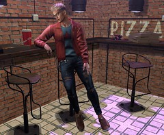 Pizza and Legal Insanity (CodyAdored) Tags: legal insanity kalback second life tmd virtual male fashion