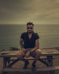 USA - Malibu - 20180415 - 886.jpg (livrePEDRO) Tags: horizon sunny cinematic bench water fashion moody 4x5 sea california unitedstatesofamerica beach ocean monochrome beards outdoors model pacific dramatic tattoo usa trip landscape sunset mensfashion cloudy lifestyle vertical sunrise summer style statepark sky clouds selfportrait portrait editorial morning warm menstyle travel backlight nature man losangeles male hill malibu elmatador beard
