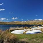 Boats at Lake Alexandrina, New Zealand thumbnail