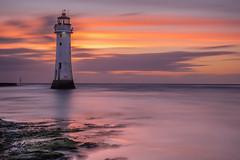 Perch Rock Sunset (keithbellis) Tags: purple wallasey england united kingdom gb lighthouse fort perch rock new brighton river mersey landscape seascape sunset sea ocean sky water dusk uk newbrighton