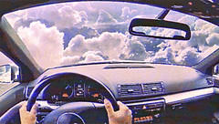 dtc (woodcum) Tags: gif gifanimation animation animated car driving clouds sky fly surreal retro grain color