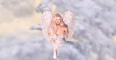 Taking Flight... (Ekatarina Petrov) Tags: secondlife angel wings clouds flying catwa maitreya glamaffair exile blueberry eriador fantasy izzies