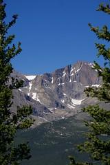 thruThePines (blancopix) Tags: longs peak rmnp twin sisters view blue sky colorado pine trees nature