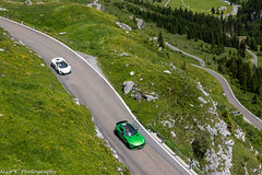 Great View down (Nico K. Photography) Tags: mercedesamg gtr green mclaren 650s white combo supercars view down nicokphotography switzerland klausenpass