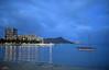 Diamond Head by WyattG (wyattgphotography) Tags: waikiki diamondhead calm evening pier boat beach