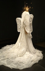 John Galliano for House of Dior, Madonna Ensemble (rear) (battyward) Tags: met fashion weddingdress galliano heavenly bodies couture nyc dior wings