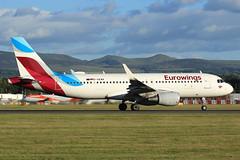 D-AEWK Eurowings Airbus A320-214 at Edinburgh on 21 June 2018 (Zone 49 Photography) Tags: aircraft airliner airplane aeroplane june 2018 egph edi edinburgh turnhouse international airport ew ewg eurowings airbus a320 airbusa320 214 200 wl daewk