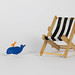Beach chair with small whale toy