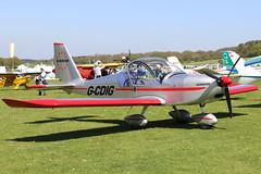 G-CDIG_02 (GH@BHD) Tags: gcdig evektor evektoraerotechnik ev97 eurostar pophammicrolighttradefair2018 pophamairfield popham microlight aircraft aviation