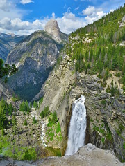Illilouette Falls and Half Dome (HDR) (Tim Lawnicki) Tags: yosemite yosemitenationalpark yosemitewilderness california sierranevada