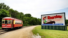 Riverview billboard (Laurence's Pictures) Tags: train illinois railway museum chicago transit interurban locomotive rail oad bus rta cta railroad