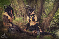 Fotocon 2017: Ailiroy and Luka Costume Artist as Fauns, by SpirosK photography (SpirosK photography) Tags: spiroskphotography fotocon fotocon2017 fotoconbytechland fotoconbytechland2017 lukacostumeartist luka portrait beautiful poland wlen palacwlen hotel garden game cosplay costumeplay costume fantasy mythology river park trees lukacostumes faun forest lake photoshoot bodyguard warrior faunwarrior faunprincess groupcosplay groupportrait sunset play
