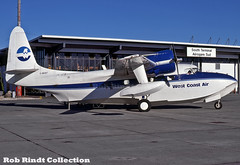 West Coast Air Grumman G-73 Mallard C-GENT (planepixbyrob) Tags: westcoastair grumman mallard g73 cgent yvr vancouver vancity retro kodachrome