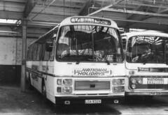 Midland Red Coaches . 532 LOA832X . Digbeth Garage , Birmingham . (AndrewHA's) Tags: coach bus midland red coaches birmingham leyland tiger trctl plaxton supreme 832 532 loa832x bmmo digbeth national holidays