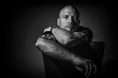 Daz - self portrait of a photographer (Daz Smith) Tags: mono selfportrait dazsmith studio strobelight black white canon 6d