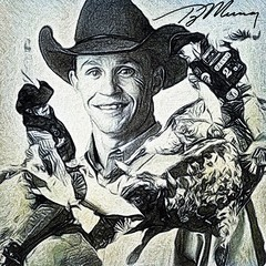 70 - Ty Murray (Bob Smerecki) Tags: smackman snapnpiks robert bob smerecki sports art digital artwork paintings illustrations graphics oils pastels pencil sketchings drawings virtual painter 6 watercolors smart photo editor colorization akvis sketch drawing concept designs gmx photopainter 28 draw hollywood walk fame high contrast images movie stars signatures autographs portraits people celebrities vintage today metamorphasis 002 abstract melting canvas baseball cards picture collage jixipix fauvism infrared photography colors negative color palette seeds university michigan football ncaa mosaic