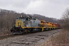 BPRR 3301 @ East Butler, PA (Dan A. Davis) Tags: bp buffalopittsburgh bprr geneseewyoming gw freighttrain railroad locomotive train pa pennsylvania butler chicora sd40t2 sd403 sd402