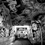 Black and White Mural at Théâtre ESPACE GO thumbnail