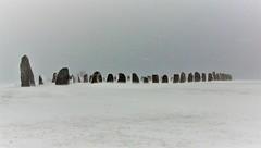 Ales Stenar @ Snowy Easter - Kàseberga - Skàne - Sweden (janvandijk01) Tags: snow sneeuw pasen easter kaseberga skane zweden sweden ales stenar stenen viking stones megaliet
