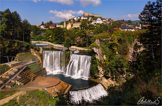 View of Jajce, Bosnia and Herzegovina