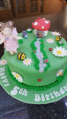 Fairy Cake (Victorious_Sponge) Tags: fairy birthday cake girls girlie girly toadstool busy bee