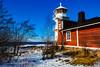 Lighthouse, still standing (Joni Mansikka) Tags: winter nature seaside lighthouse shore sea snow ice sky blue trees outdoor landscape coast balticsea kallo pori suomi finland canonef2470mmf28lusm