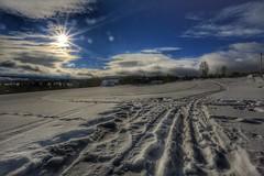 Ski tracks (Roman_P2013) Tags: sun blue sky winter snow best shot nice landscape skreia norway norge view