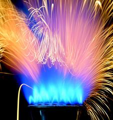 Big Hair (nrg_crisis) Tags: flame macro streaks blue orange ironpowder longexposure
