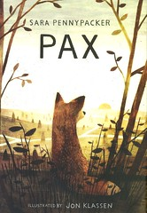 Pax (Vernon Barford School Library) Tags: sarapennypacker sara pennypacker jonklassen jon klassen animalstories animal stories animalstory story animalfiction animals fox foxes fantasy fantasyfiction fiction alternatingpointofview pointofview multiplepointsofview pet pets humananimalrelationships friendship vernon barford library libraries new recent book books read reading reads junior high middle school vernonbarford fictional novel novels hardcover hard cover hardcovers covers bookcover bookcovers 9780062377012