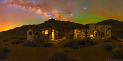 Fixer Uppers (Jake Rogers Photo) Tags: jakerogers airglow abandonedbuildings abandoned aguereberrycamp ghosttown planets saturn mars jupiter pano panorama nightsky milkyway california deathvalley deathvalleynationalpark