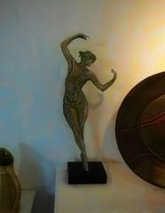 The Tiny Dancer (Steve Taylor (Photography)) Tags: dancer ballerina plate jug art digital sculpture blue black brown yellow green woman lady uk gb england greatbritain unitedkingdom london texture shadow bexley hallplace