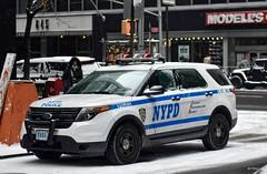 NYPD - 17th Pct 5551 (Arthur Lombard) Tags: police policedepartment policecar policestation policeinterceptor ford fordexplorer nypd newyork nikon nikond7200 emergency 911 999 112 17 lightbar bluelight street