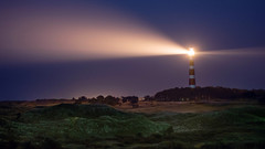 Bornrif (Kjeldvdh) Tags: ameland nederland netherlands dune dunes sand forrest trees light dark shine beam candela lighthouse night gloom long exposure licht donker nacht kleurrijk fryslan friesland sterren stars sterne lente spring niederlande