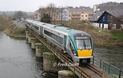 Irish Rail ICR Set 11 in Enniscorthy. (Fred Dean Jnr) Tags: irishrail iarnrodeireann april2018 wexford 22011 icr intercityrailcar riverslaneyviaduct enniscorthy enniscorthystationwexford rotem ubr323