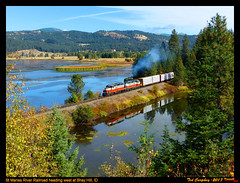 stma-shay hill-id-10-9-2017b (funnelfan) Tags: train railroad railway shortline locomotive pnw pacificnorthwest idaho gp9 fall maries coeur