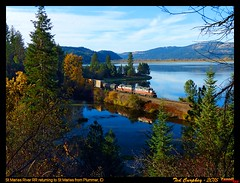 stma-st maries-id-10-21-2015a (funnelfan) Tags: train railroad railway shortline locomotive pnw pacificnorthwest maries idaho coeur lake fall fallcolor gp9